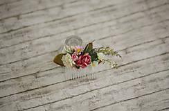 Ozdoby do vlasov - Kvetinový hrebienok do vlasov - 9741892_