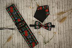 Doplnky - Pánska vreckovka čierna - 9743255_