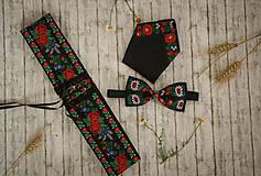 Doplnky - Vianočná akcia: Folk motýlik čierny - 9743256_