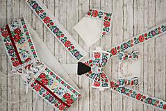 Doplnky - Vianočná akcia: Folk motýlik biely - 9743258_