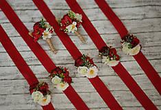 Náramky - Folk kvetinový náramok pre družičky - 9743265_
