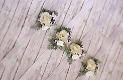 Náramky - Kvetinový náramok pre družičky - 9743280_