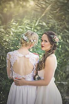 Ozdoby do vlasov - Set svadobný hrebienok a 4 sponky (blondínka) - 9741843_