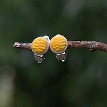Náušnice - Náušnice Klipsne Žltá - 9742056_
