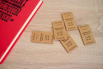 Papiernictvo - Magnetická záložka - cestovný lístok - 9740480_