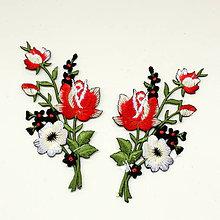 Galantéria - Nažehlovačka Kytica kvetov - 9742051_