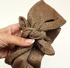 Ozdoby do vlasov - Vintage šatka do vlasov Gloss copper - 9742161_