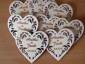 Darčeky pre svadobčanov - vintage svadba/magnetky pre svadobčanov 5 - 9740772_