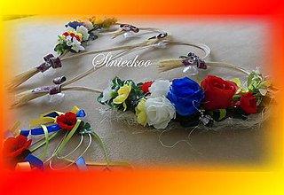 """Dekorácie - Výzdoba svadobného auta """"FOLK"""" - 9741191_"""