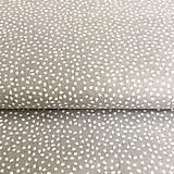 - látka Bodky v sivej; 100 % bavlna Francúzsko, šírka 160 cm - 9741878_