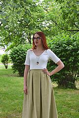Sukne - Svetlohnedá sukňa - 9741690_