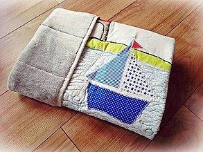 Textil - Detská patchwork deka More 75x100 - 9741855_