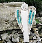 Dekorácie - Keramický anjel na stenu. - 9742617_