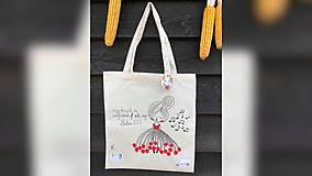 Nákupné tašky - ♥ Plátená, ručne maľovaná taška ♥ - 9740689_