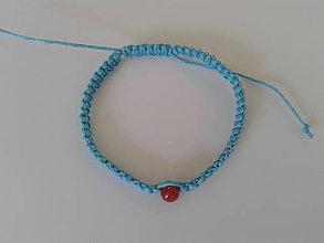 Náramky - Modrý ochranný náramok - býk - 9741195_