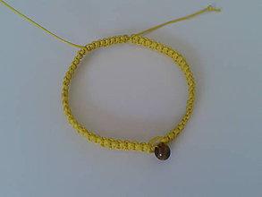 Náramky - Žltý ochranný náramok - lev - 9741247_