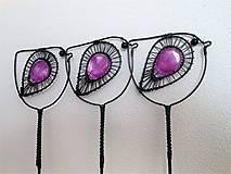 Dekorácie - Ptáček fialový - 9740241_