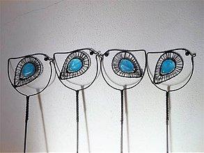 Dekorácie - Ptáček modrý - 9740238_