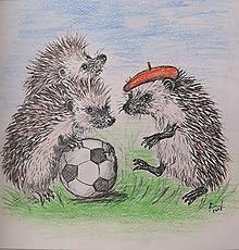 Kresby - ježkovia futbalisti ... :-) - 9740547_