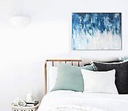 Obrazy - abstraktný obraz, Obraz pre milovníka modrej, 80x60 - 9741290_