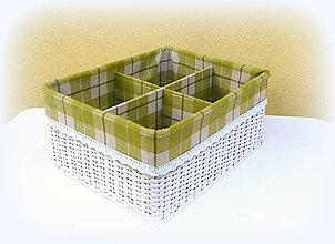 Košíky - Košík - prepážkový (45 x 39 v 20 cm) - 9742077_