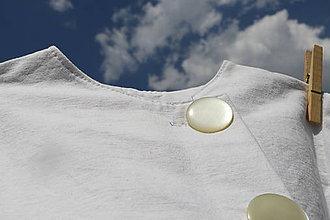 Detské oblečenie - Biele zavinovacie šaty - 9742734_