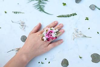 Prstene - Kvetinový prsteň - 9744832_