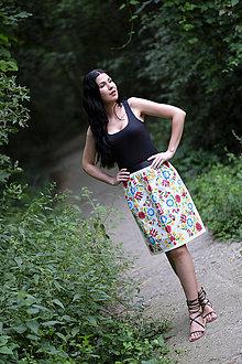 Sukne - AKÝ KRAJ, TAKÝ KROJ - midi sukňa - 9744492_