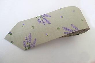 Doplnky - kravata SLIM režná levanduľová - 9743365_
