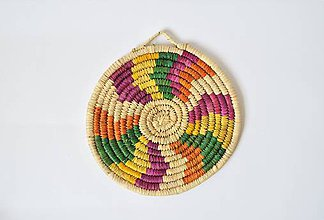 Pomôcky - Ručne pletená podložka z palmových listov - Wavy - 9745097_