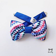 Doplnky - Pánsky motýlik Swimming Pool II - 9744749_