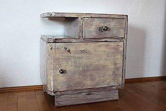 """Nábytok - nočný stolík """"po babičke v novom šate"""" - 9744501_"""