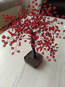 Dekorácie - Veľký červený stromček stastia - 9745030_