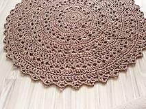 Úžitkový textil - Veľký okrúhly koberec - 9743699_