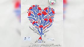 Nákupné tašky - ♥ Plátená, ručne maľovaná taška ♥ - 9744798_