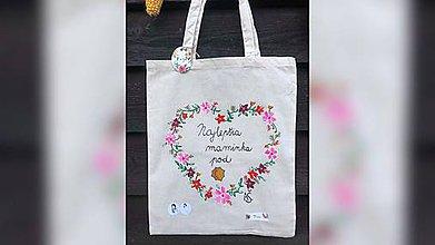 Nákupné tašky - ♥ Plátená, ručne maľovaná taška ♥ (MI20) - 9744874_