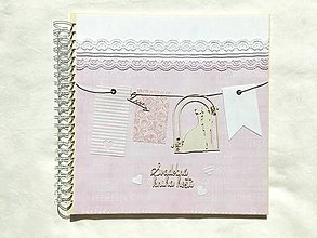 Papiernictvo - Svadobná kniha hostí noty s vlajkami - 9743447_