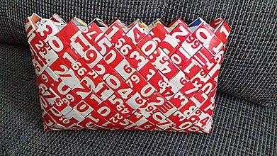 Kabelky - Kabelka (Červeno-biele čísla) - 9743512_