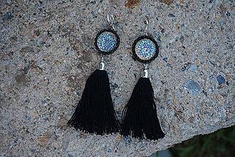 Náušnice - Náušnice so strapcami - Eldorado tmavé (Modrá) - 9744880_