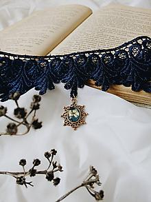 Náhrdelníky - Royal Blue - vintage choker - 9744144_