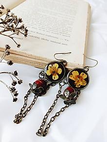Náušnice - Krása sušených kvetov - náušnice - 9744257_