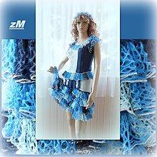 Šaty - Dvojdielne šaty s volánmi. - 9743683_