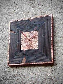 Hodiny - Hodiny nástenné dreveno-medené5 - 9745380_
