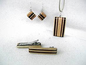 Sady šperkov - drevený prívesok... - 9745253_