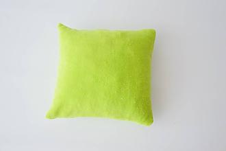 Textil - Limetkový wellsoft vankúšik 35*35cm - 9745609_