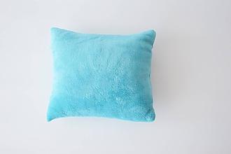 Textil - Tyrkysový wellsoft vankúšik 35*35cm - 9745611_