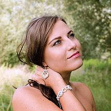 Náramky - svadobný náramok NEHA (VL - Ag 925) - 9746512_