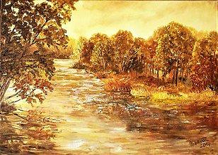 Obrazy - Za ohybom rieky - 9745385_