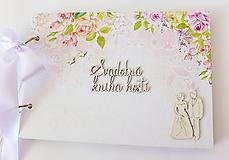 Papiernictvo - svadobná kniha hostí - 9745659_