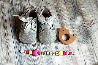 Topánočky - darčekový set pre dieťatko (-Eliška) - 9746380_